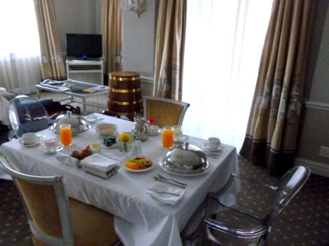 Cape Grace Room Service Breakfast