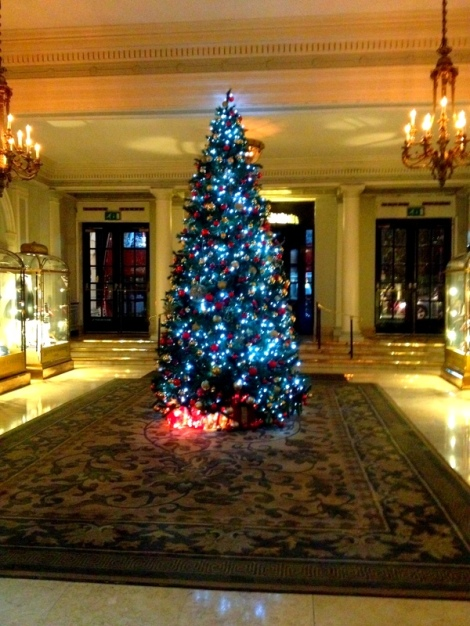 hosts a fantastic Christmas tree in the lobby.