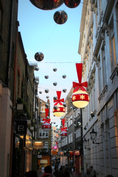 St Christopher's Place Christmas Lights